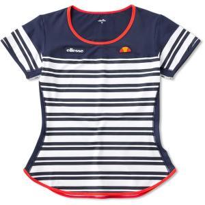 「2017新製品」Ellesse エレッセ 「レディース クルーシャツ EW07211」テニスウェア「2017SS」|sportsjapan