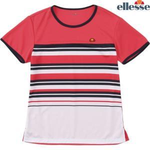 エレッセ Ellesse テニスウェア レディース SS プラクティスボーダークルー EW08328-TB 2018FW sportsjapan