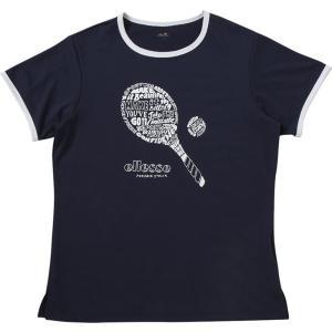 エレッセ Ellesse テニスウェア レディース ラケットティー EW18102-NY 2018SS 2月発売予定※予約|sportsjapan