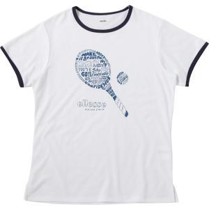 エレッセ Ellesse テニスウェア レディース ラケットティー EW18102-W 2018SS 2月発売予定※予約|sportsjapan