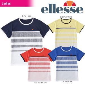 エレッセ Ellesse テニスウェア レディース ツアープラスボーダーT EW18113 2018SS 発売予定※予約|sportsjapan