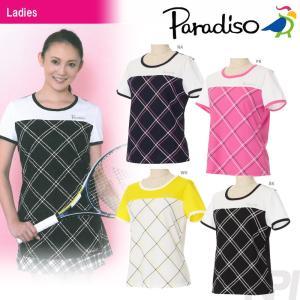 テニスウェア レディース パラディーゾ PARADISO レディース半袖ゲームシャツ FCL01A 2017SS 2017新製品|sportsjapan