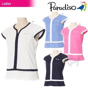 テニスウェア レディース パラディーゾ PARADISO レディース半袖ゲームシャツ FCL08A 2017SS 2017新製品|sportsjapan