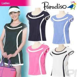 テニスウェア レディース パラディーゾ PARADISO レディース半袖ゲームシャツ FCL09A 2017SS 2017新製品|sportsjapan