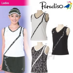 テニスウェア レディース パラディーゾ PARADISO レディースノースリーブシャツ FCL73A 2017SS 2017新製品|sportsjapan