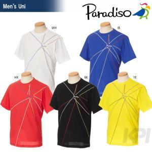 「2017新製品」PARADISO(パラディーゾ)「メンズ 半袖ゲームシャツ FCM04A」テニスウェア「2017SS」KPI+|sportsjapan
