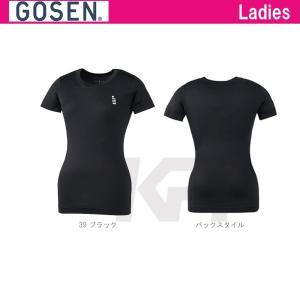 GOSEN(ゴーセン)「レディース フィットリクエスト SSショートスリーブシャツ FR151」テニスウェア「SS」KPI+|sportsjapan