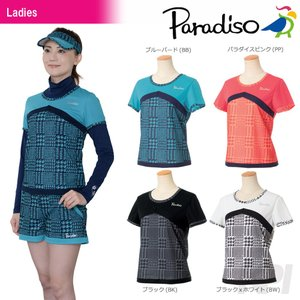 パラディーゾ PARADISO テニスウェア レディース半袖ゲームシャツ ICL01A 2017FW 「2017新製品」|sportsjapan