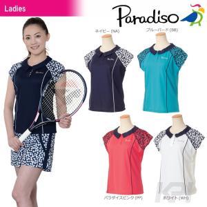 「2017新製品」PARADISO パラディーゾ 「レディース半袖ゲームシャツ ICL06A」テニスウェア「2017FW」|sportsjapan