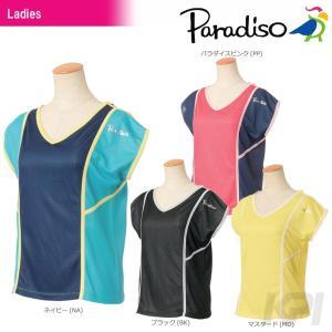 パラディーゾ PARADISO テニスウェア レディース半袖ゲームシャツ ICL08A 2017FW 「2017新製品」|sportsjapan