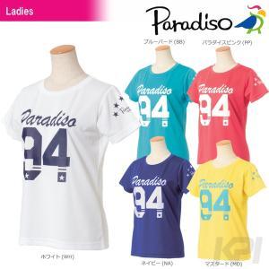 「2017新製品」PARADISO パラディーゾ 「レディース半袖プラクティスシャツ ICL20A」テニスウェア「2017FW」|sportsjapan