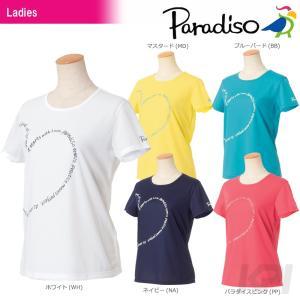 「2017新製品」PARADISO パラディーゾ 「レディース半袖プラクティスシャツ ICL23A」テニスウェア「2017FW」|sportsjapan