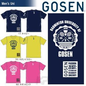 『即日出荷』 「2017新製品」GOSEN(ゴーセン)「2017年春企画Tシャツ 『バドミントン大学』 J17P05」バドミントンウェア「2017SS」KPI+|sportsjapan