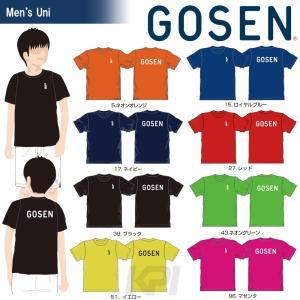 テニスウェア ユニセックス ゴーセン GOSEN 2017年春企画Tシャツ プラクティス ワンポイント 半袖 J17P06 2017SS 2017新製品|sportsjapan