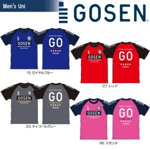 ゴーセン GOSEN テニスウェア  2018春企画 Tシャツ PT 半袖 ラグランエンブレム J18P03 2018SS『即日出荷』|sportsjapan