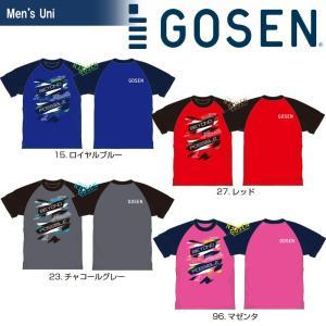 ゴーセン GOSEN テニスウェア  2018春企画 Tシャツ PT 半袖 ラグラングラフィック J18P04 2018SS『即日出荷』|sportsjapan
