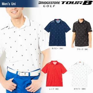ブリヂストンゴルフ BRIDGESTONE ゴルフウェア メンズ TOUR B ツアーB 半袖台付ポロシャツ JGM03A 2018SS|sportsjapan