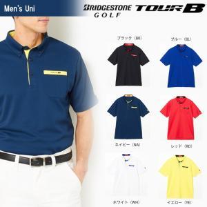 ブリヂストンゴルフ BRIDGESTONE ゴルフウェア メンズ TOUR B ツアーB 半袖ボタンダウンシャツ JGM06A 2018SS|sportsjapan