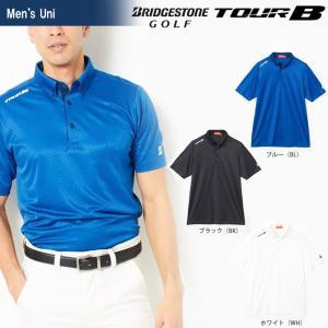 ブリヂストンゴルフ BRIDGESTONE ゴルフウェア メンズ TOUR B ツアーB 半袖ボタンダウンシャツ JGM08A 2018SS|sportsjapan