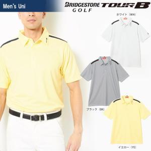 ブリヂストンゴルフ BRIDGESTONE ゴルフウェア メンズ TOUR B ツアーB 半袖台付共衿シャツ JGM13A 2018SS|sportsjapan