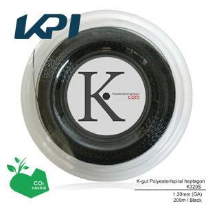 『即日出荷』 「エントリーでグリップ対象」KPI ケイピーアイ 「K-gut Polyester/spiral heptagon K320S 200mロール」硬式テニスストリング ガット KPI+|sportsjapan