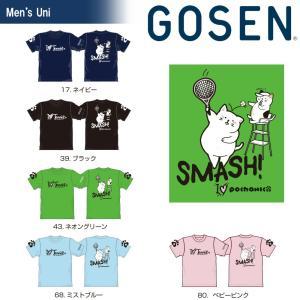 ゴーセン GOSEN テニスウェア ユニセックス 2018夏企画Tシャツ pochaneco SMASH! NPT04 2018SS 『即日出荷』 sportsjapan