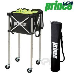 「9月末発売予定※予約」「2017新製品」Prince プリンス 「ボールバスケット 三段階高さ調節機能ロックピンキャスター付 PL065」テニスコート用品|sportsjapan
