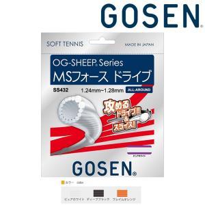 ゴーセン GOSEN テニスガット・ストリング  OG-SHEEP MSフォースドライブ ソフトテニスストリング ガット SS432|sportsjapan