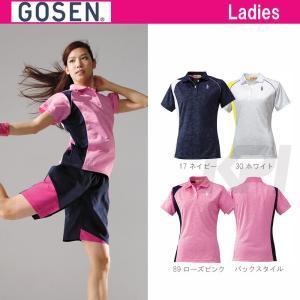 テニスウェア レディース ゴーセン GOSEN ゲームシャツ T1501 SS|sportsjapan