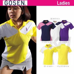 テニスウェア レディース ゴーセン GOSEN ゲームシャツ T1503 SS|sportsjapan