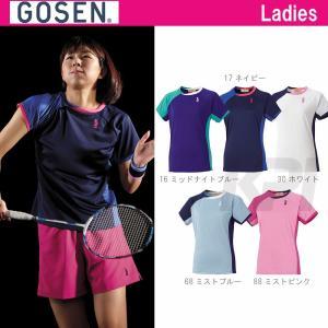 テニスウェア レディース ゴーセン GOSEN ゲームシャツ T1505 SS|sportsjapan