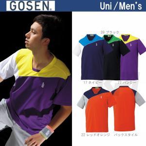 テニスウェア ユニセックス ゴーセン GOSEN ゲームシャツ T1506 SS|sportsjapan