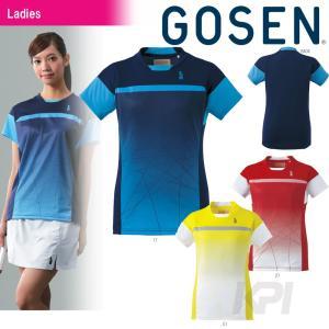 「2017モデル」GOSEN(ゴーセン)「レディースゲームシャツ T1605」テニスウェア「2016SS」「テニコレ掲載」KPI+|sportsjapan