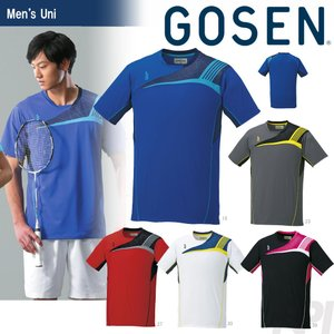テニスウェア ユニセックス ゴーセン GOSEN ゲームシャツ T1608 2016SS テニコレ掲載 2017モデル sportsjapan