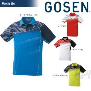 「2017モデル」GOSEN(ゴーセン)「UNI ゲームシャツ T1612」テニスウェア「2016FW」KPI+|sportsjapan