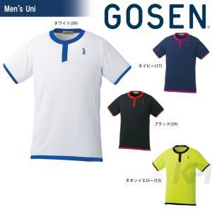 テニスウェア ユニセックス ゴーセン GOSEN ゲームシャツ T1618 2016FW 2017モデル|sportsjapan