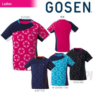 「2017新製品」GOSEN ゴーセン 「レディース 星柄ゲームシャツ T1711」テニスウェア「2017SS」|sportsjapan