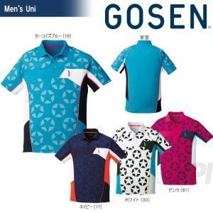 GOSEN ゴーセン 「UNI 星柄ゲームシャツ T1712」テニスウェア「2017SS」|sportsjapan