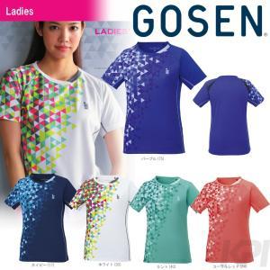 テニスウェア レディース ゴーセン GOSEN ゲームシャツ T1717 2017FW 2017新製品|sportsjapan