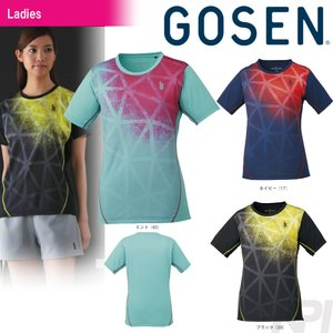 「2017新製品」GOSEN ゴーセン 「レディースゲームシャツ T1721」テニスウェア「2017FW」|sportsjapan