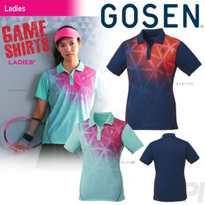 テニスウェア レディース ゴーセン GOSEN ゲームシャツ T1723 2017FW 2017新製品|sportsjapan