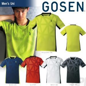 テニスウェア ユニセックス ゴーセン GOSEN ゲームシャツ T1726 2017FW 2017新製品|sportsjapan