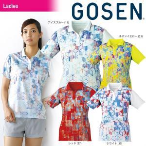 テニスウェア レディース ゴーセン GOSEN ゲームシャツ T1801 2018SS|sportsjapan