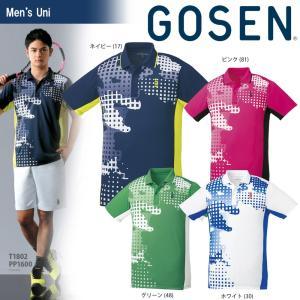 ゴーセン GOSEN テニスウェア ユニセックス ゲームシャツ T1802 2018SS|sportsjapan