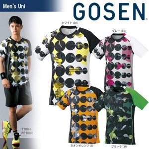 テニスウェア ユニセックス ゴーセン GOSEN ゲームシャツ T1804 2018SS|sportsjapan