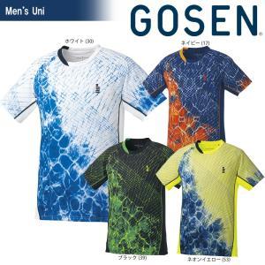 テニスウェア ユニセックス ゴーセン GOSEN ゲームシャツ T1806 2018SS|sportsjapan