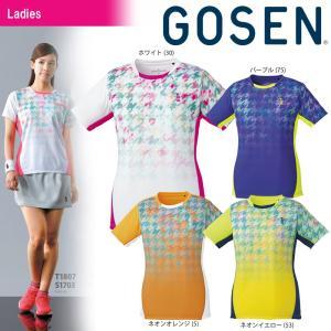 テニスウェア レディース ゴーセン GOSEN ゲームシャツ T1807 2018SS|sportsjapan
