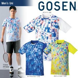 テニスウェア ユニセックス ゴーセン GOSEN ゲームシャツ T1810 2018SS|sportsjapan