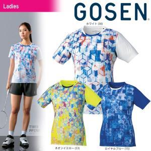 テニスウェア レディース ゴーセン GOSEN ゲームシャツ T1813 2018SS|sportsjapan
