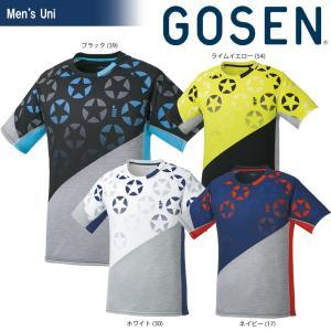ゴーセン GOSEN テニスウェア ユニセックス 星柄ゲームシャツ T1814 2018SS[ポスト投函便対応][ポスト投函便対応] sportsjapan